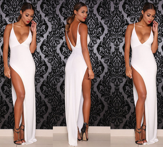 dress white dress evening dress prom dress bodycon dress