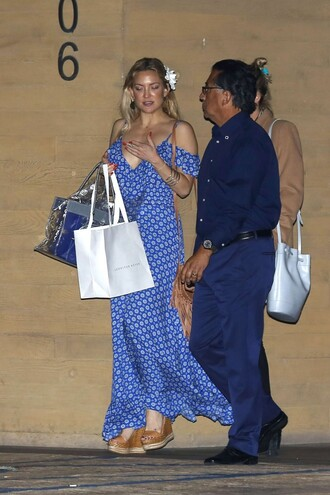 dress summer summer dress maxi dress kate hudson wedges