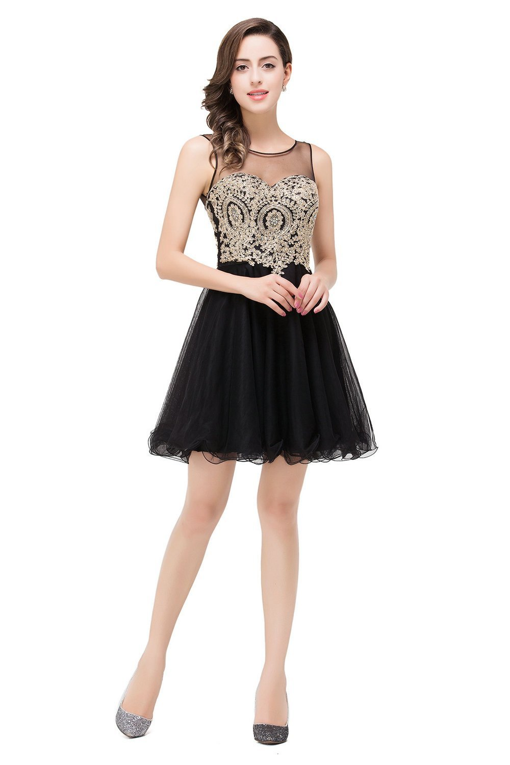 MisShow Sexy Backless Crystal Lace Bodice Short Prom Homecoming Dresses: Amazon Fashion