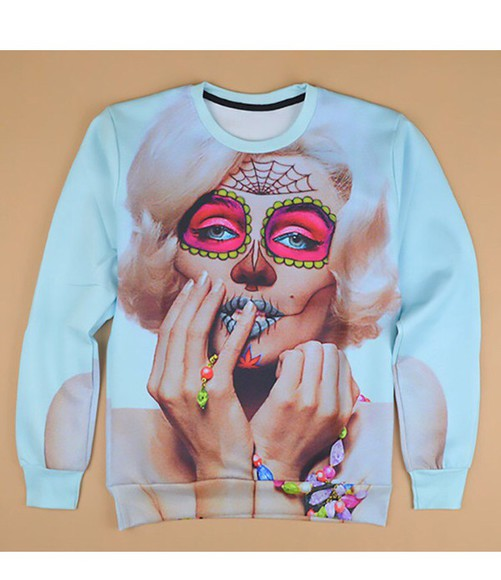 marilyn monroe marilyn sweater sugar skull fashion sweat shirt