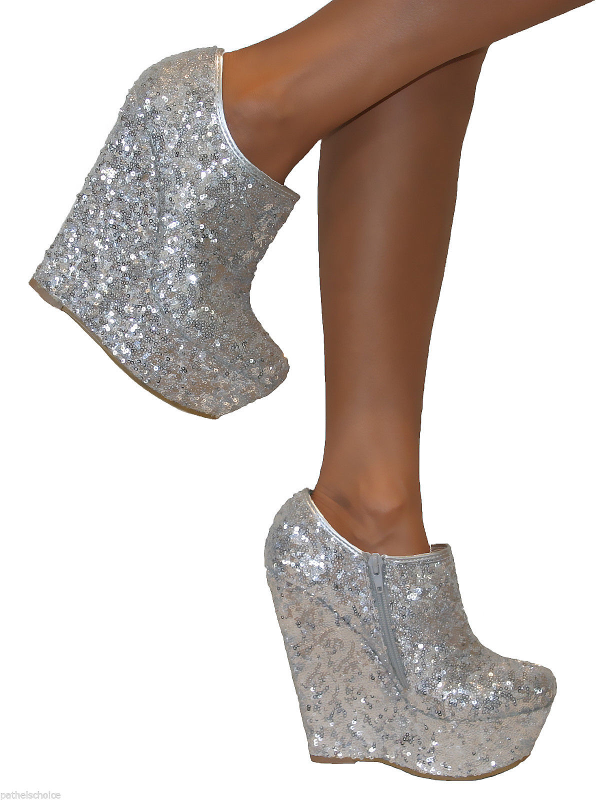 9bde79b3fd66a Shoppable tips. Best tips. advertising. 17£. Not mentioned. ebay.co.uk. WOMENS  SILVER GOLD PLATFORM GLITTER SPARKLY HIGH WEDGES ...