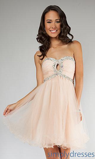 Dress, Short Strapless Prom Dress - Simply Dresses