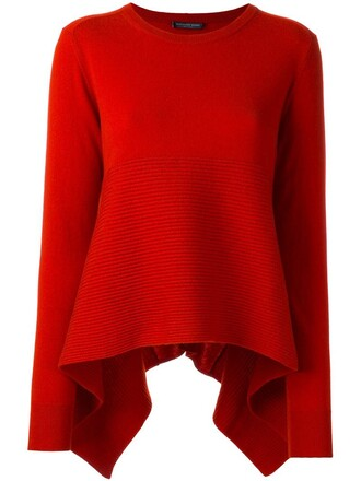 jumper loose women fit red sweater