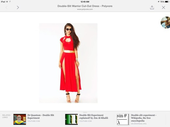 slit skirt red dress 2piece dress