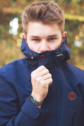 jacket cute outdoors navy jacket navy blue buttons coat raincoat