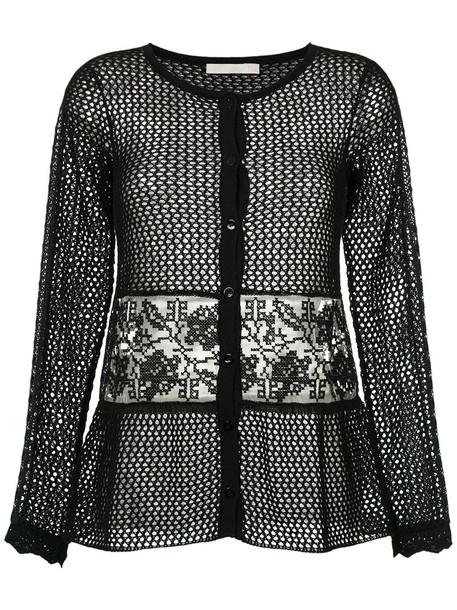 Cecilia Prado cardigan cardigan women cotton black knit sweater