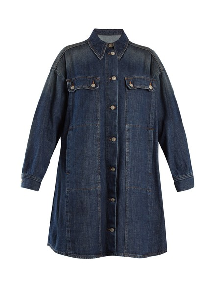 Mm6 Maison Margiela jacket denim jacket oversized denim jacket denim oversized blue