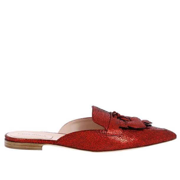 Alberta Ferretti women shoes red