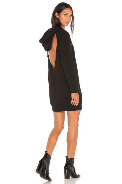 Cotton Citizen dress hoodie dress backless black