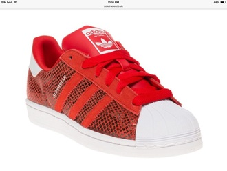 shoes red adidas originals adidas superstars snake skin snake sneakers grey adidas sneakers trainers