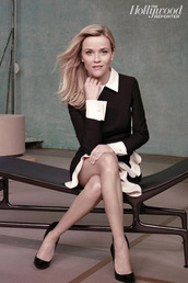 dress,reese witherspoon,black and white