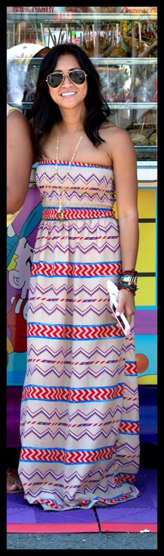 tribal pattern tribal dress beige dress maxi dress long dress tube dress summer dress