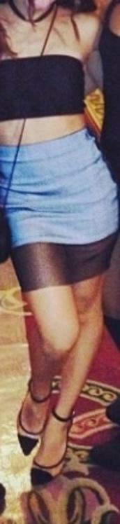 skirt,shoes,grey skirt with sheer black hem,sheer,pencil skirt,mini skirt,grey,pointy heels,ankle straps,clear heels