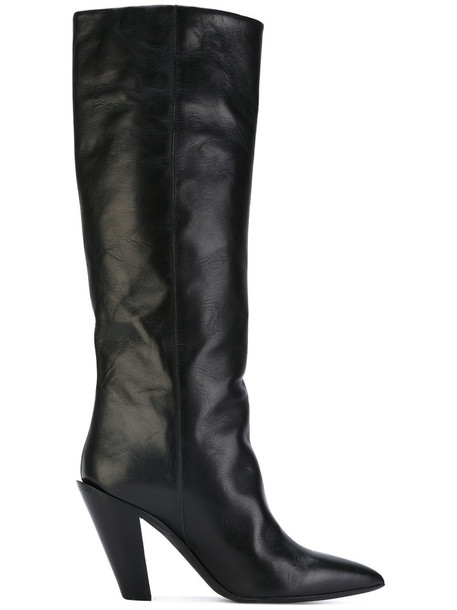 A.F.VANDEVORST heel women heel boots leather black shoes