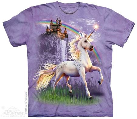 Unicorn Castle T-shirt | Fantasy T-shirts | The Mountain® | Unicorn T-shirts