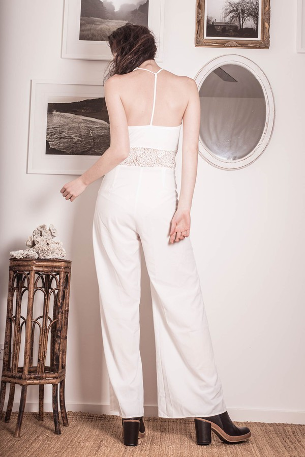 jumpsuit summer outfits streetstyle stylemoi white jumpsuit