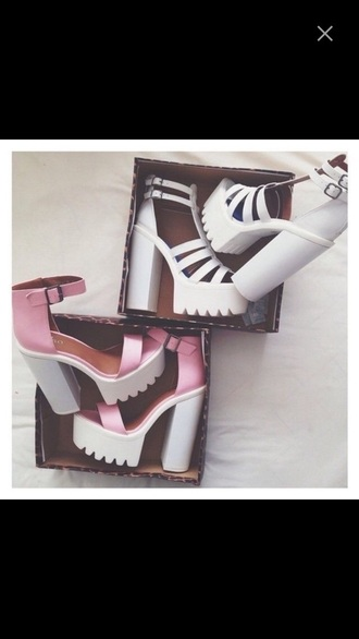 shoes white shoes pink shoes heels
