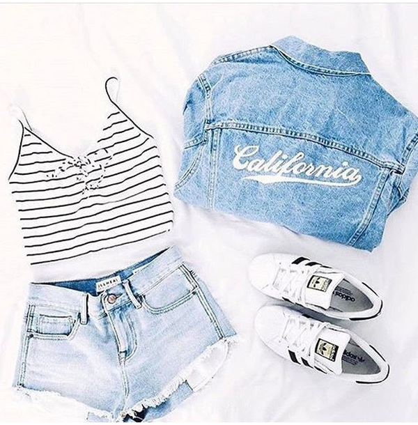 shirt stripes black and white tank top crop tops