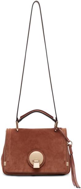 Chloe bag suede brown