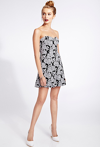 Darling Floral A-Line Dress | FOREVER21 - 2031557880