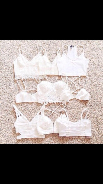 top crop tops white cute summer fall outfits lingerie
