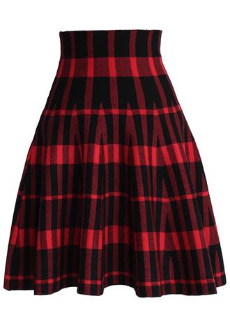 skirt chicwish check skirt chicwish.com striped skirt
