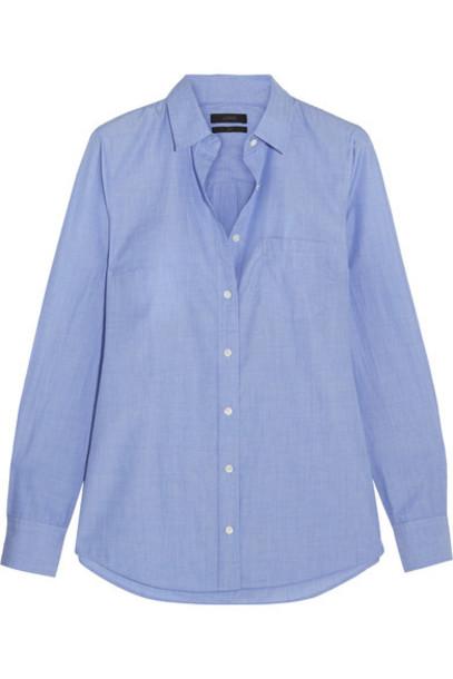 J.Crew shirt cotton blue top