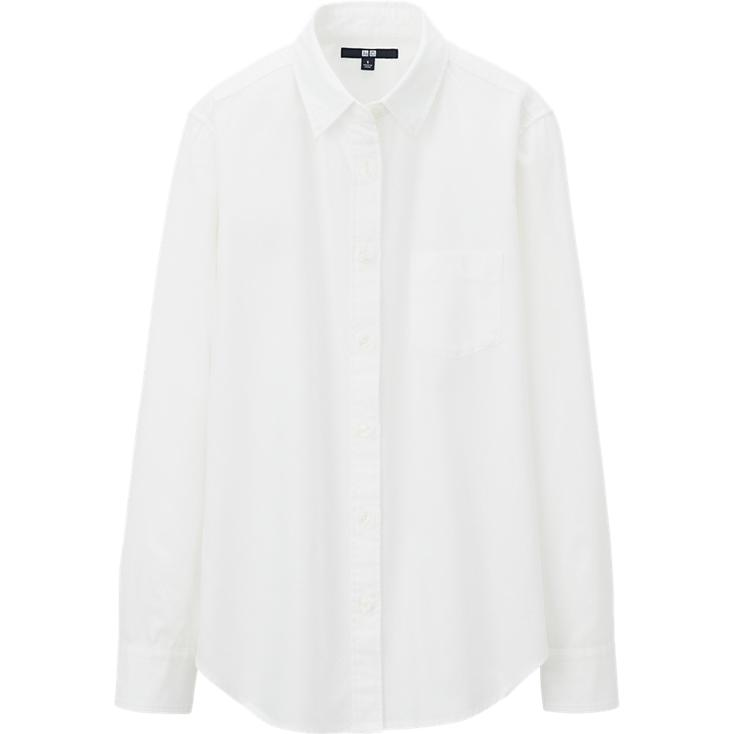 WOMEN DENIM LONG SLEEVE SHIRT | UNIQLO