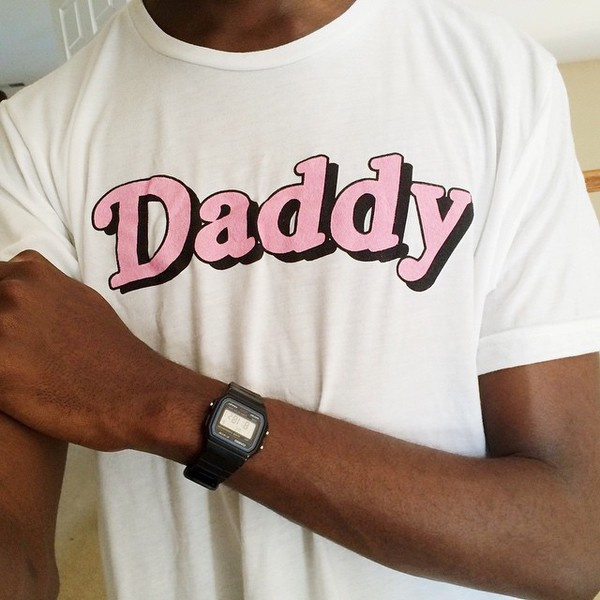 shirt daddy white pink t-shirt