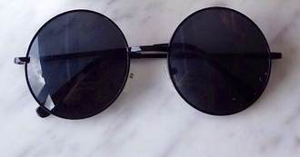 black sunglasses round