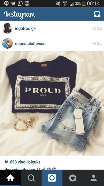 shirt t-shirt black shirt prada jeans jewels