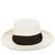 White Italian Bow Boater Hat