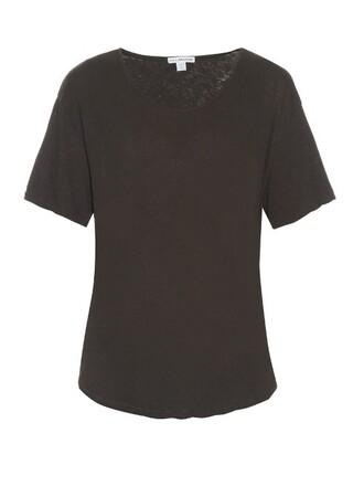 t-shirt shirt short cotton dark grey top