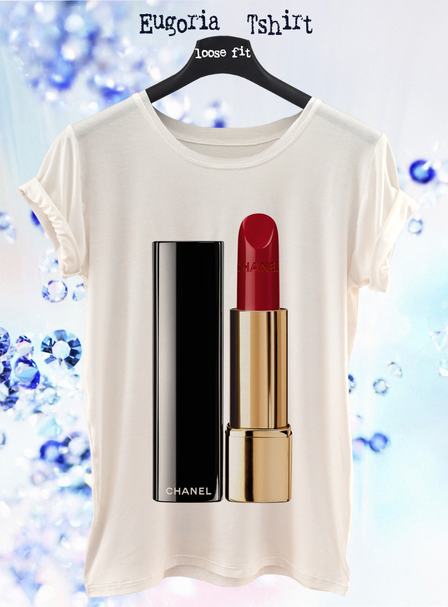 chanel red lipstick t-shirt, anishar t-shirt, eugoria t-shirt, fashion t-shirt