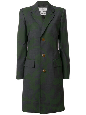 coat printed coat style women wool grey