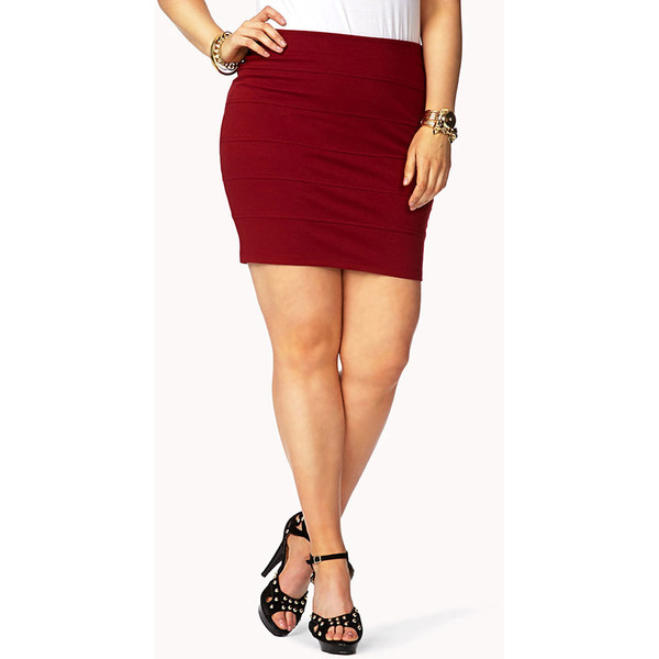 FOREVER 21  PLUS SIZES City-Chic Bandage Skirt - Polyvore