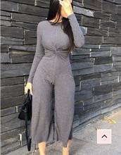 jumpsuit,grey