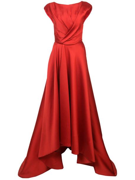 jason wu gown women silk red dress