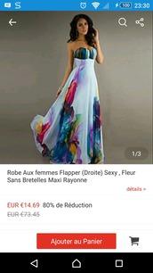 dress,robe longue,fleurs,sans manche,blanche