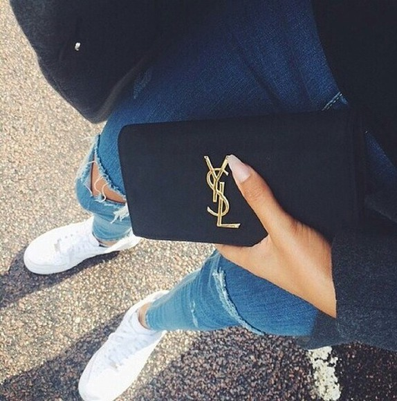 ysl bag indie hipster instagram dope jeans top white hair accessories