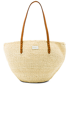 Clare V. Kenya Maison Tote in Cream Woven from Revolve.com