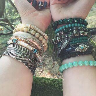 jewels cherry diva boho jewelry boho bracelet bracelets stacked bracelets charm bracelet silver bracelet black bracelets gypsy gypsy jewelry jewelry bohemian bohemian jewelry feathers