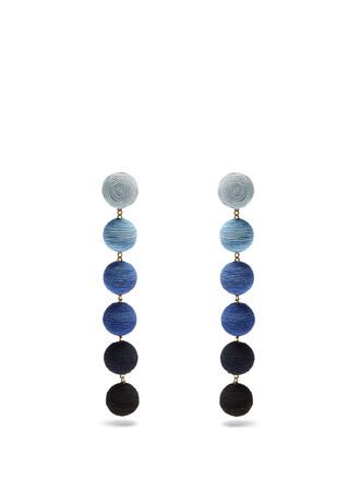 earrings silk blue jewels