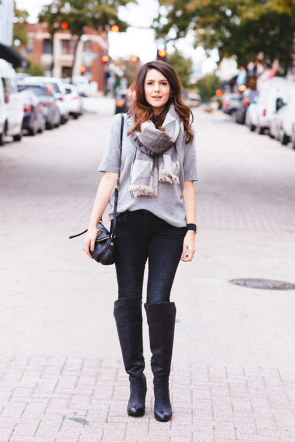 kendi everyday sweater scarf jeans shoes bag