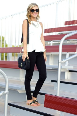 life with emily blogger top bag shoes