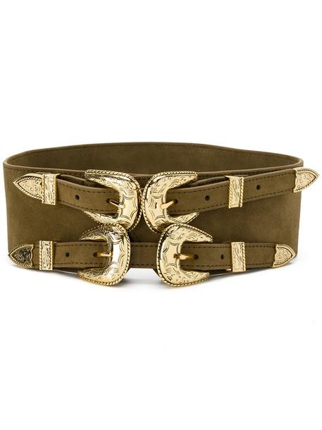 double buckle belt belt green