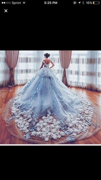 dress gown ball gown dress blue dress