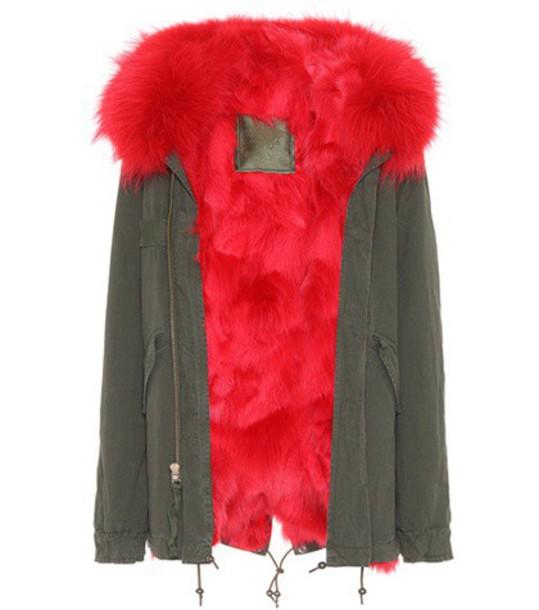 Mr & Mrs Italy parka fur london green coat