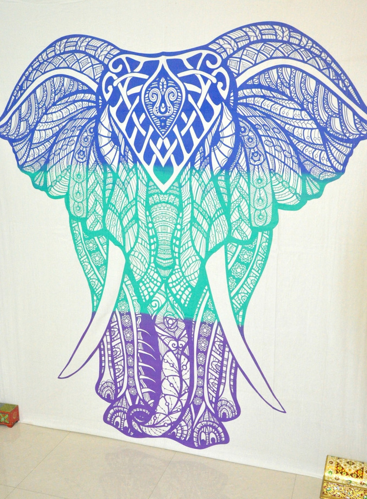 Elephant Tapestries Wall Hanging Psychedelic Tapestry Hippie Dorm Decor Wall  Art