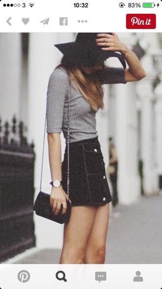 bag top skirt summer mini skirt